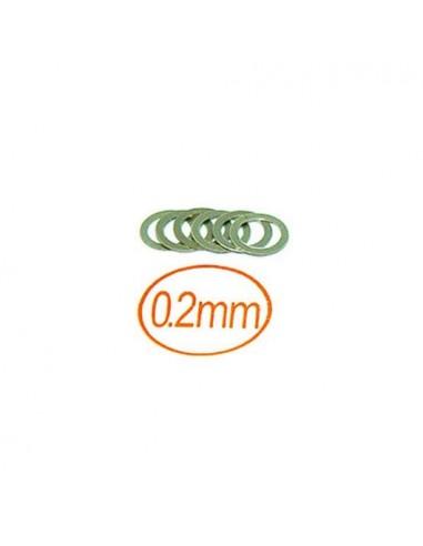 Arandelas 5x7x0,2 mm 10 PCS